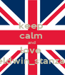 keep  calm  and  love  eldwin_stanza  - Personalised Poster A4 size