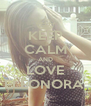 KEEP CALM AND LOVE ELEONORA. - Personalised Poster A4 size