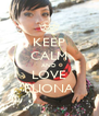 KEEP CALM AND LOVE ELIONA - Personalised Poster A4 size
