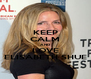 KEEP CALM AND LOVE ELISABETH SHUE - Personalised Poster A4 size