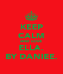 KEEP CALM AND LOVE ELLA. BY DANIEE. - Personalised Poster A4 size
