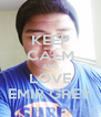 KEEP CALM AND LOVE EMIR GREY - Personalised Poster A4 size
