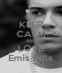 KEEP CALM AND LOVE Emis Killa - Personalised Poster A4 size