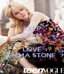 KEEP CALM AND LOVE EMMA STONE - Personalised Poster A4 size