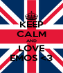 KEEP CALM AND LOVE EMOS <3 - Personalised Poster A4 size