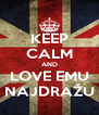 KEEP CALM AND LOVE EMU NAJDRAŽU - Personalised Poster A4 size