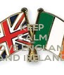 KEEP CALM AND LOVE ENGLAND AND IRELAND - Personalised Poster A4 size