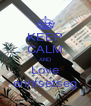 KEEP CALM AND Love enhtsetseg - Personalised Poster A4 size