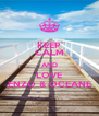 KEEP CALM AND LOVE ENZO & OCEANE - Personalised Poster A4 size