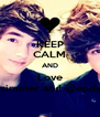 KEEP CALM AND Love @eppaulzimmer and @epdannyedge - Personalised Poster A4 size