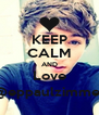 KEEP CALM AND Love @eppaulzimmer - Personalised Poster A4 size