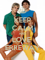 KEEP CALM AND LOVE  ERREWAY - Personalised Poster A4 size