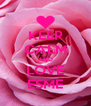 KEEP CALM AND LOVE ESME - Personalised Poster A4 size