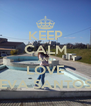 KEEP CALM AND LOVE EVA SANTOS - Personalised Poster A4 size
