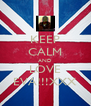 KEEP CALM AND LOVE EVA!!!XXX - Personalised Poster A4 size