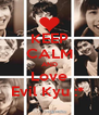 KEEP CALM AND Love Evil Kyu :*  - Personalised Poster A4 size