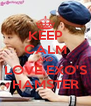 KEEP CALM AND LOVE EXO'S HAMSTER - Personalised Poster A4 size