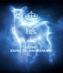 KEEP CALM AND LOVE EXPECTO PATRONUM! - Personalised Poster A4 size