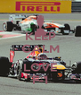 KEEP CALM AND LOVE F-1 - Personalised Poster A4 size