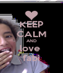 KEEP CALM AND love  fabi - Personalised Poster A4 size
