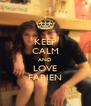 KEEP CALM AND LOVE FABIEN - Personalised Poster A4 size