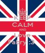 KEEP CALM AND Love Fabry :3  - Personalised Poster A4 size