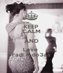 KEEP CALM AND Love  Fadi & do3aa - Personalised Poster A4 size