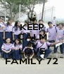 KEEP CALM AND LOVE FAMILY 72 - Personalised Poster A4 size