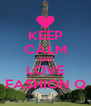 KEEP CALM AND LOVE FASHION Q - Personalised Poster A4 size