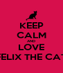 KEEP CALM AND LOVE FELIX THE CAT - Personalised Poster A4 size