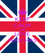 KEEP CALM AND LOVE FEOCHAS - Personalised Poster A4 size