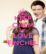 KEEP CALM AND LOVE FINCHEL - Personalised Poster A4 size