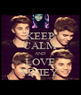 KEEP CALM AND LOVE FINIEY - Personalised Poster A4 size