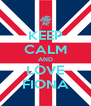 KEEP CALM AND LOVE FIONA - Personalised Poster A4 size