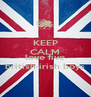 KEEP CALM AND love five british-irish boys - Personalised Poster A4 size