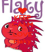 KEEP CALM AND LOVE Flaky - Personalised Poster A4 size