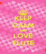 KEEP CALM AND LOVE FLUTE - Personalised Poster A4 size