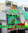 KEEP CALM AND LOVE FOZZIE BEAR - Personalised Poster A4 size