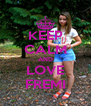 KEEP CALM AND LOVE FREMI - Personalised Poster A4 size