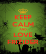 KEEP CALM AND LOVE FRIŽIDER - Personalised Poster A4 size