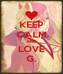 KEEP CALM AND LOVE G. - Personalised Poster A4 size