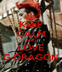 KEEP CALM AND LOVE G-DRAGON - Personalised Poster A4 size