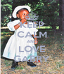 KEEP CALM AND LOVE GABRY - Personalised Poster A4 size