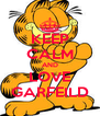 KEEP CALM AND LOVE GARFEILD - Personalised Poster A4 size