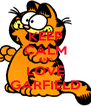 KEEP CALM AND LOVE GARFIELD - Personalised Poster A4 size