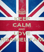 KEEP CALM AND LOVE GARGAMEL FAMILY - Personalised Poster A4 size
