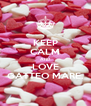 KEEP CALM AND LOVE GATTEO MARE. - Personalised Poster A4 size
