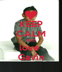 KEEP CALM AND love  Gavin - Personalised Poster A4 size