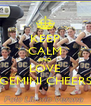 KEEP CALM AND LOVE GEMINI CHEERS - Personalised Poster A4 size
