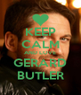 KEEP CALM AND LOVE GERARD BUTLER - Personalised Poster A4 size